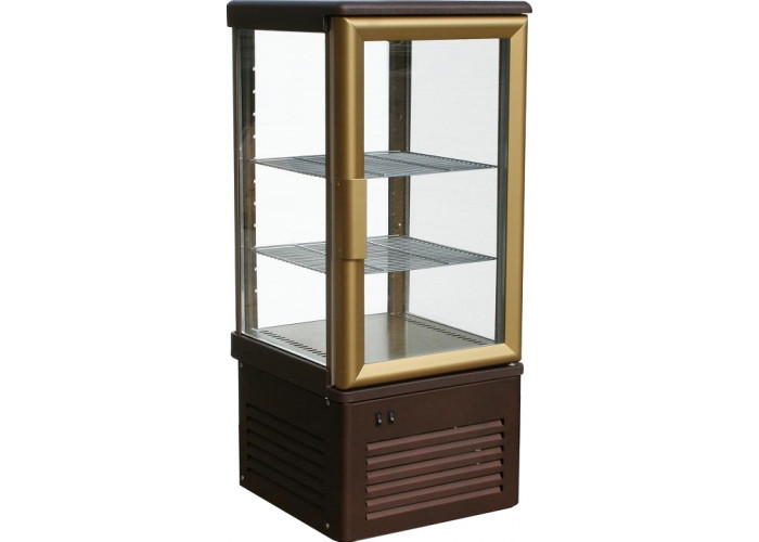 Кондитерская витрина CARBOMA D4 VM 120‑1 (R120C) brown&beige