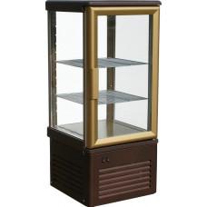Кондитерская витрина CARBOMA D4 VM 120‑1 (R120C) brown&gold