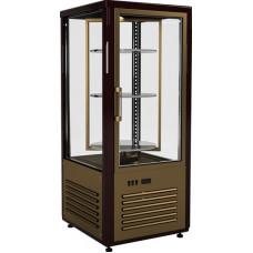 Кондитерская витрина CARBOMA D4 VM 120‑2 (R120Cвр) brown&beige