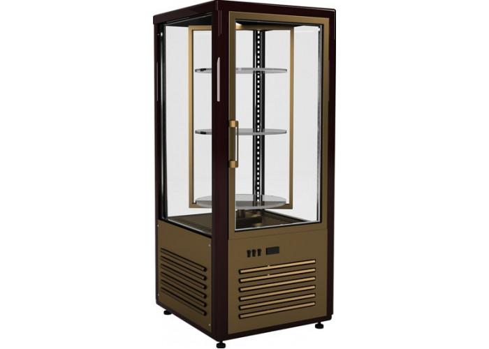 Кондитерская витрина CARBOMA D4 VM 120‑2 (R120Cвр) brown&gold