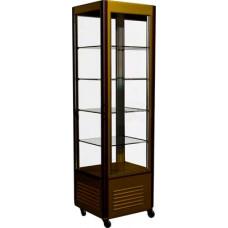 Кондитерская витрина CARBOMA D4 VM 400‑2 (R400Cвр) brown&gold