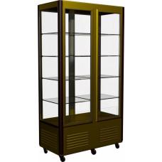 Кондитерская витрина CARBOMA D4 VM 800‑1 (R800C) brown&gold