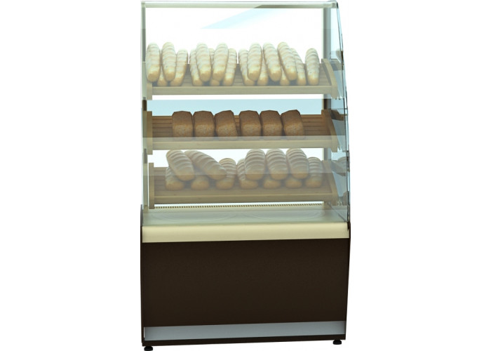 Хлебная витрина CARBOMA K70 N 0.9‑2 black&steel