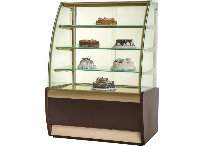 Нейтральная витрина CARBOMA K70 N 1.3‑1 brown&gold