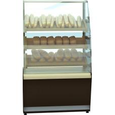 Хлебная витрина CARBOMA K70 N 1.3‑2 black&steel