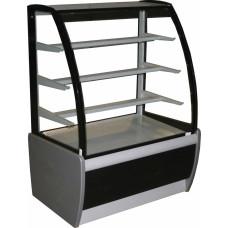 Витрина для шоколада CARBOMA K70 VH 1.3‑1 (ВХСв‑1.3д) black&steel
