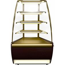 Кондитерская витрина CARBOMA K70 VM‑3 (ВХСв‑У1д) brown&gold