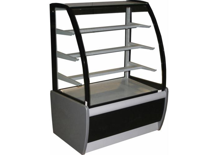 Кондитерская витрина CARBOMA K70 VM 0.9‑1 (ВХСв‑0.9д) black&steel