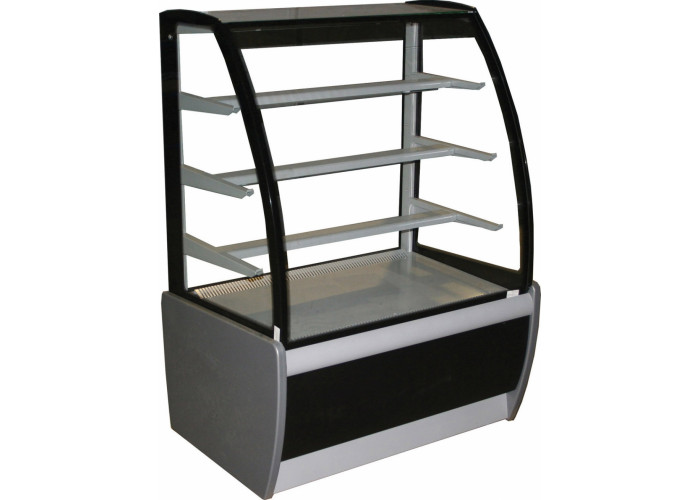 Кондитерская витрина CARBOMA K70 VM 1.3‑1 (ВХСв‑1.3д) black&steel
