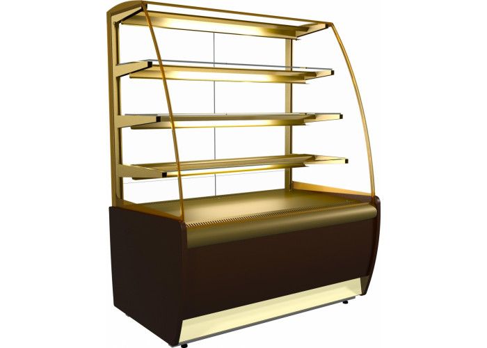 Кондитерская витрина CARBOMA K70 VM 1.3‑1 (ВХСв‑1.3д) brown&gold