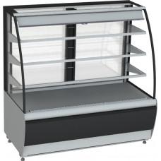 Кондитерская витрина CARBOMA K70 VM 1.3‑2 (ВХСв‑1.3д) black&steel