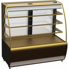 Кондитерская витрина CARBOMA K70 VM 1.3‑2 (ВХСв‑1.3д) brown&gold