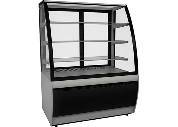 Кондитерская витрина CARBOMA ЛЮКС K70 VV 0.9‑1 (ВХСв‑0.9д) black&steel