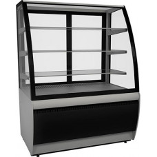 Кондитерская витрина CARBOMA ЛЮКС K70 VV 1.3‑1 (ВХСв‑1.3д) black&steel