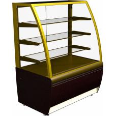 Кондитерская витрина CARBOMA ЛЮКС K70 VV 1.3‑1 (ВХСв‑1.3д) brown&gold