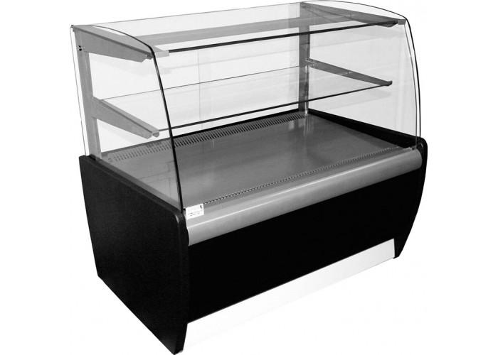 Кондитерская витрина CARBOMA MINI K70 VM 0.9‑12 (ВХСв‑0.9д) black&steel