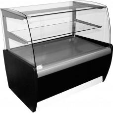 Кондитерская витрина CARBOMA MINI K70 VM 1.3‑12 (ВХСв‑1.3д) black&steel
