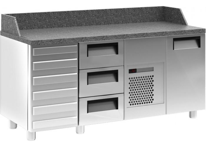 Холодильный стол для пиццы CARBOMA T70 M2pizza‑1 0430