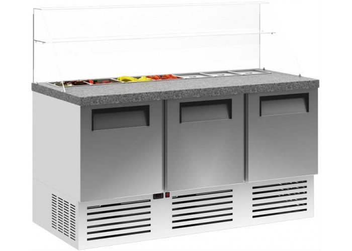 Холодильный стол для пиццы CARBOMA T70 M2pizzaGN‑2 0430