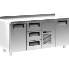 Холодильный стол CARBOMA T70M3‑10430(3GN/NT) с бортом (высота - 60 мм)