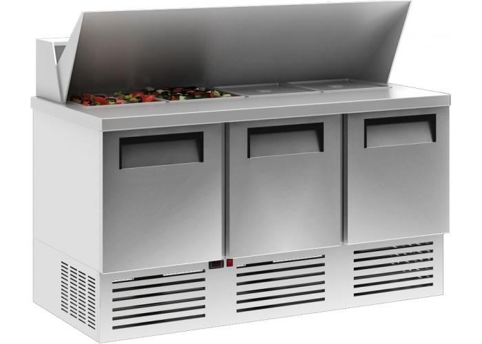 Холодильный стол CARBOMA T70 M3sandGN‑2 0430 01 с угловой крышкой (GN 1/3)