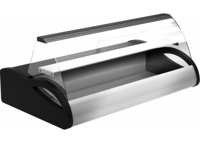 Холодильная витрина ПОЛЮСA87 SM 1.5‑1 (ВХС‑1.5) black&steel