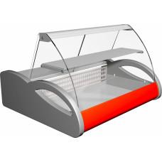 Холодильная витрина ПОЛЮСA87 SM 1.5‑1 (ВХС‑1.5) grеy&red