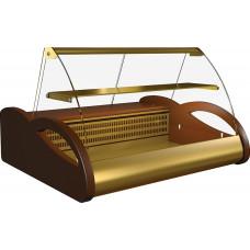 Морозильная витрина ПОЛЮСA87SV1.0‑1 (ВХСн‑1.0) brown&gold