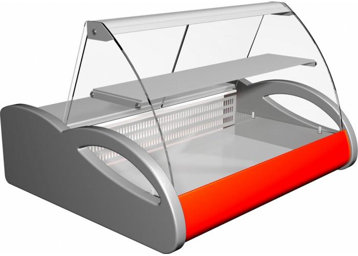 Морозильная витрина ПОЛЮСA87 SV 1.5‑1 (ВХСн‑1.5) grеy&red