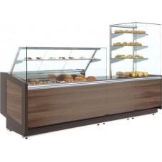 Неохлаждаемый прилавок ПОЛЮСKC80 N 0.8‑7 brown&wood