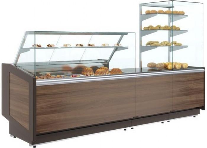 Нейтральная витрина ПОЛЮСKC80 N 1.5‑1 brown&wood