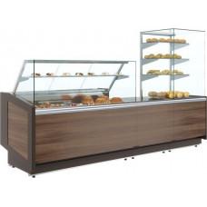 Кондитерская витрина ПОЛЮС KC80 SM 1.2‑1 brown&wood
