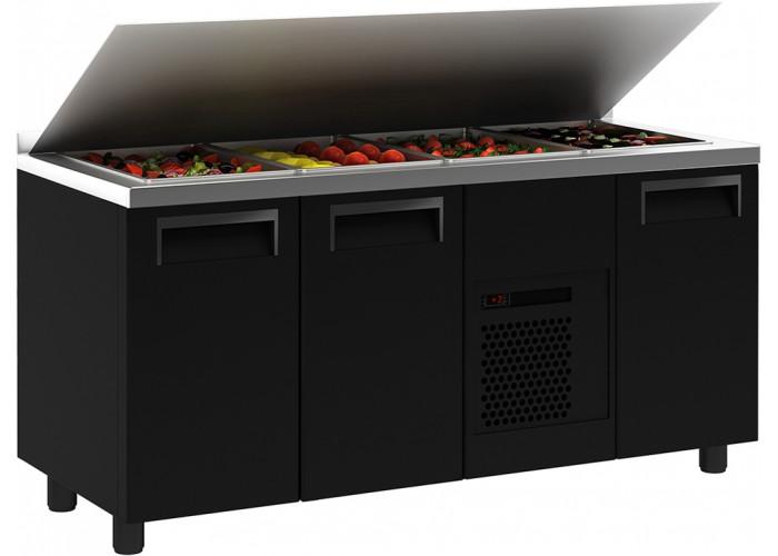 Холодильный стол для салатов (саладетта) ПОЛЮС T70 M2sal‑1 9006 (SL 2GN)