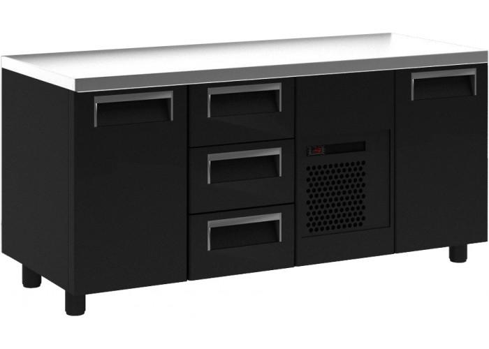 Холодильный стол ПОЛЮС T70M3‑1 9006 (3GN/NT) без борта
