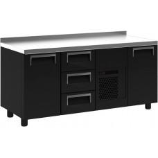 Холодильный стол ПОЛЮС T70M3‑1 9006 (3GN/NT) с бортом (высота - 60 мм)