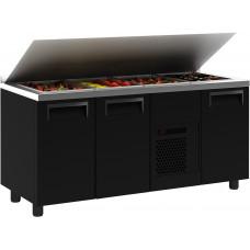 Холодильный стол для салатов (саладетта) ПОЛЮС T70 M3sal‑1 9006 (SL 3GN)